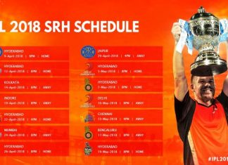 Sunrisers Hyderabad match schedule